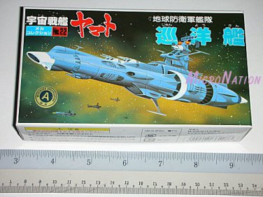 Bandai Space Cruiser Yamato / Star Blazers Argo Miniature Plastic Model #22 EDF Patrol Battleship