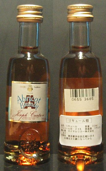 JOSEPH CARTRON APRICOT BRANDY LIQUEUR 30 ml miniature