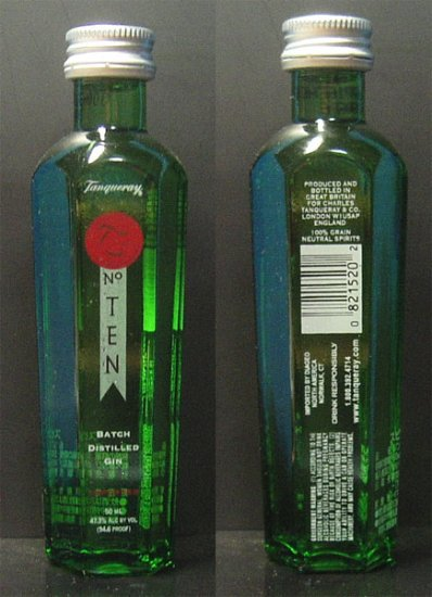 TANQUERAY number TEN GIN 50 ml miniature bottle JAPAN