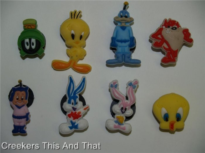 Set of 8 Looney Toons Crocs Shoe Charms Tweety Taz