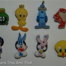 Set of 8 Looney Toons Crocs Shoe Charms Tweety Taz