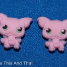 Set of 2 Littlest Pet Shop Piggie Croc Shoe Charms