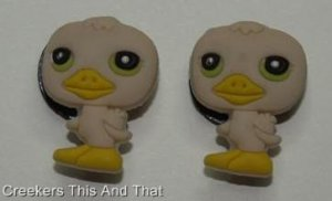 Set of 2 Littlest Pet Shop Baby Duck Croc Shoe Charms