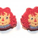 Set of 2 Raggedy Ann Anne Crocs Shoe Charms