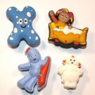 4 In The Night Garden Shoe Charms Upsy Daisy Makka Pakka IgglePiggle Haahoo