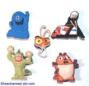 Set of 5 Monsters vs Aliens Shoe Charms for Crocs Ginormica Cockroach BOB