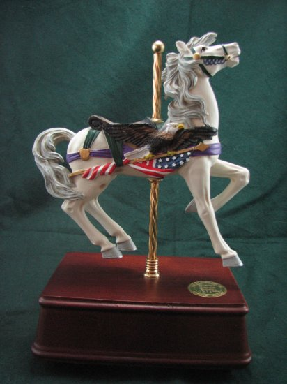 Military type carousel music box by San Francisco Music Box Co.