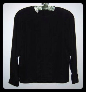 Christian Dior Black Blouse Size 8
