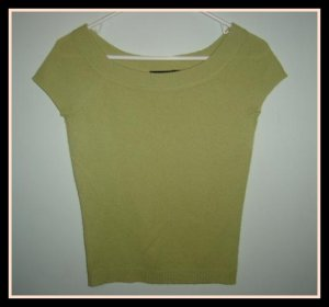 THE LIMITED Green Cashmere Sweater Tee Size XS X-Small