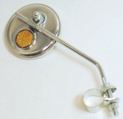 """MIRROR for bicycle, 3"""" diameter. Can turn it to adjust. Goes on handlebar.... S&H is $4.50 or $2.25"""