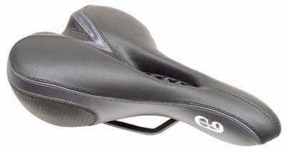 "Men's Gel Padded SEAT for bicycle 11"" x 6 1/2 "".  For post with clamp .. S&H is $7.95 or $3.50"