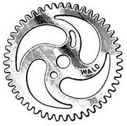"""Front sprocket (chainring) for bicycle one-piece crank. 1/8"""" ... S&H is $6.95 or $3.50"""