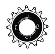 "One-speed Freewheel for BMX type bicycle.  16 teeth x 3/32""  ..... S&H is $3.95 or $1.95"