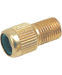 Valve Adapter for Presta Bicycle Tube .  Zefal brand.  Brass.... S&H is $1.95 or $0.25