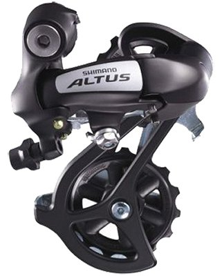 Shimano Rear DERAILLEUR for ATB, MTN bicycle.  7- 8-speed.  Color, BLACK. S&H $6.95 or $3.50