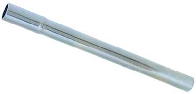 "13/16"" diameter.  Length 10 1/2"". Bicycle Seat Post . Steel, silver color.... S&H is $4.95 or $2.50"