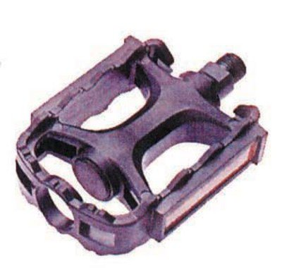 For 3-piece crank. PAIR, ATB MTN type.  Adult size. Bicycle PEDALS  .... S&H is $5.50 or $2.75