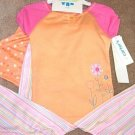 Girls CARTERS 3pc Peach Pink Flower Pajamas 4 NWT NEW