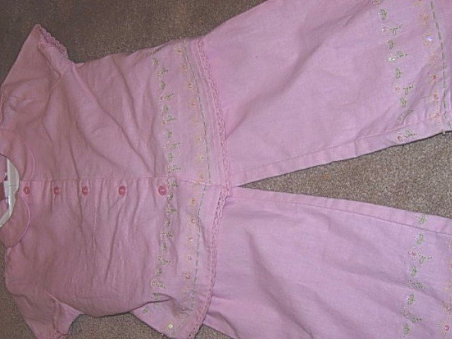 Girls Boutique RING AROUND THE ROSIE Linen Capri Set 6 NEW