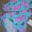 BREAKING WAVES Aqua Purple Tankini Swimsuit 5 NWT