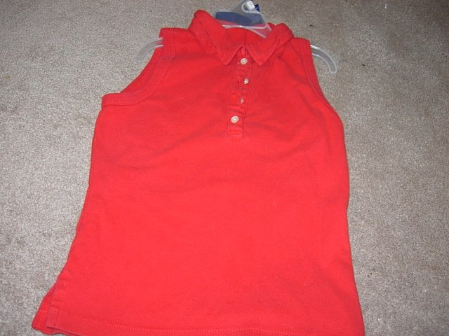 Ladies/Juniors AEROPOSTALE Sleeveless Red Shirt S 4 6