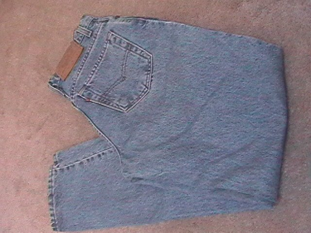 Ladies LEVIS 550 Stonewashed Blue Jeans 8 Reg (AD1)