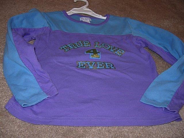 Girls CHILDRENS PLACE Blue Purple True Love Top L 10 12