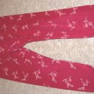 Girls GYMBOREE VICTORIAN CHARM Burgundy Rose Leggings S 3