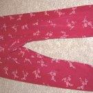Girls GYMBOREE VICTORIAN CHARM Burgundy Rose Leggings S 3