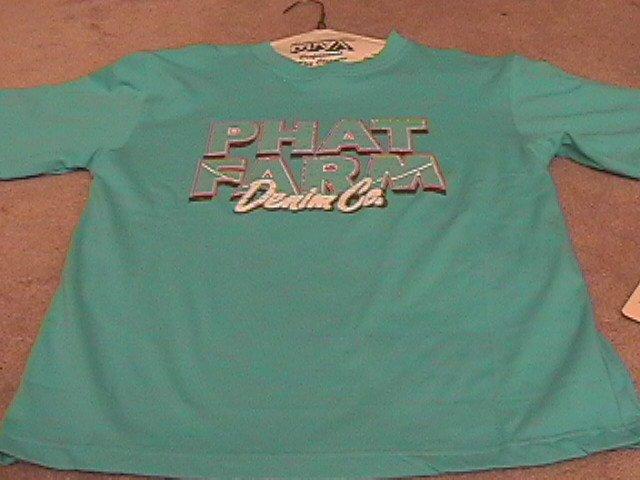 Boys Blue PHAT FARM T-Shirt L 14/16 NEW NWT