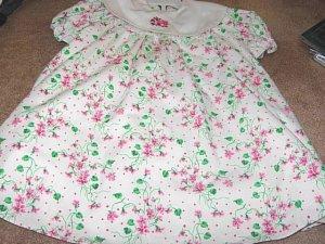 Girls White Floral Print Dress 3