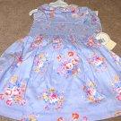 Girls Boutique LAURA ASHLEY Blue Floral Dress 18mo NWT
