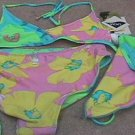 Girls SPEEDO Reversible Floral Print Bikini 16 NEW NWT
