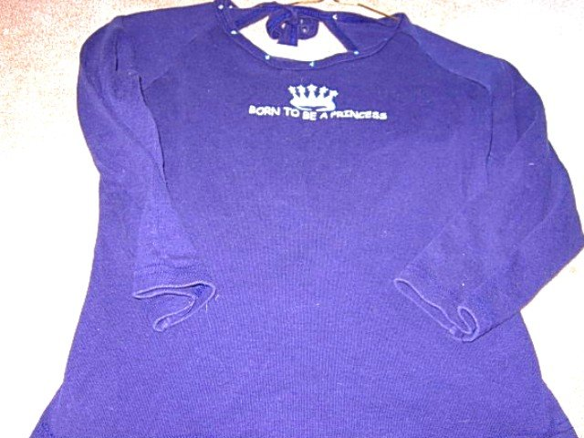 Girls MANDEE Navy Long Sleeve Princess Top XL 16