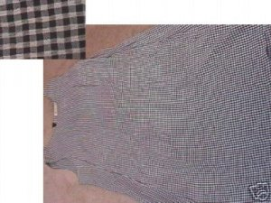 Ladies Juniors EXPRESS Navy/White Gingham Dress 7/8