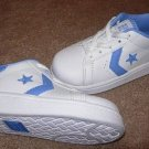 Girls CONVERSE ALL STAR White/Blue Sneakers 8M NEW