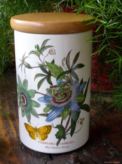 "8"" Portmeirion Botanic Canister Passiflora Passion Flower"