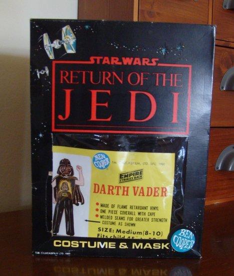 1983 Vintage Ben Cooper Star Wars Return Of The Jedi Halloween Costume NIB