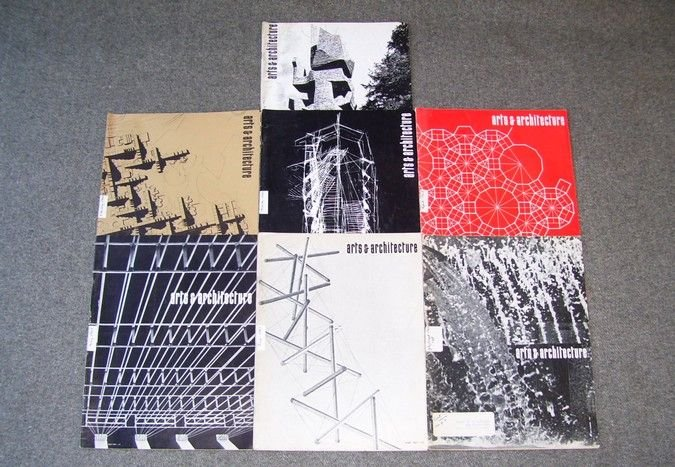 Vintage 1967 ARTS AND ARCHITECTURE Magazine Lot 7 Issues