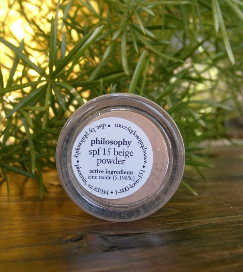 Philosophy SPF 15 Beige Powder Mineral Makeup Try Me Sample FREE SHIPPING
