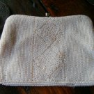 Vintage Micro Bead Beaded Clutch Evening Bag Purse 1940s Cream