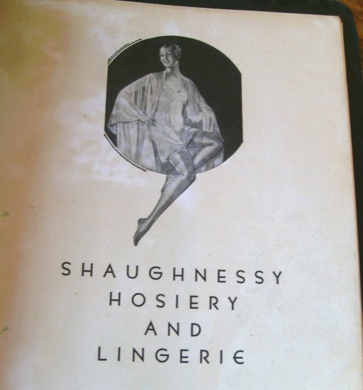 1920s Lingerie Catalog Womens Children's Mens Vintage Shaughnessy Watertown NY Advertising Catalog
