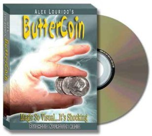 Butter Coin w/DVD (by Alex Lourido)