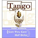 Coin Thru Card (by Tango Magic) US Half