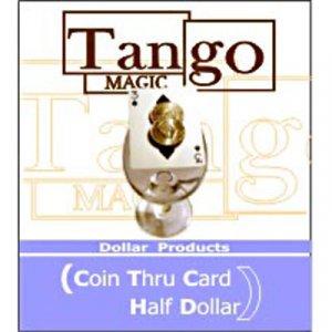 Coin Thru Card (by Tango Magic) US Half