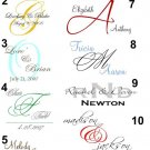 Custom Wedding Monogram Design Service