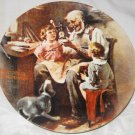1977 Norman Rockwell Knowles China The Toy Maker Plate