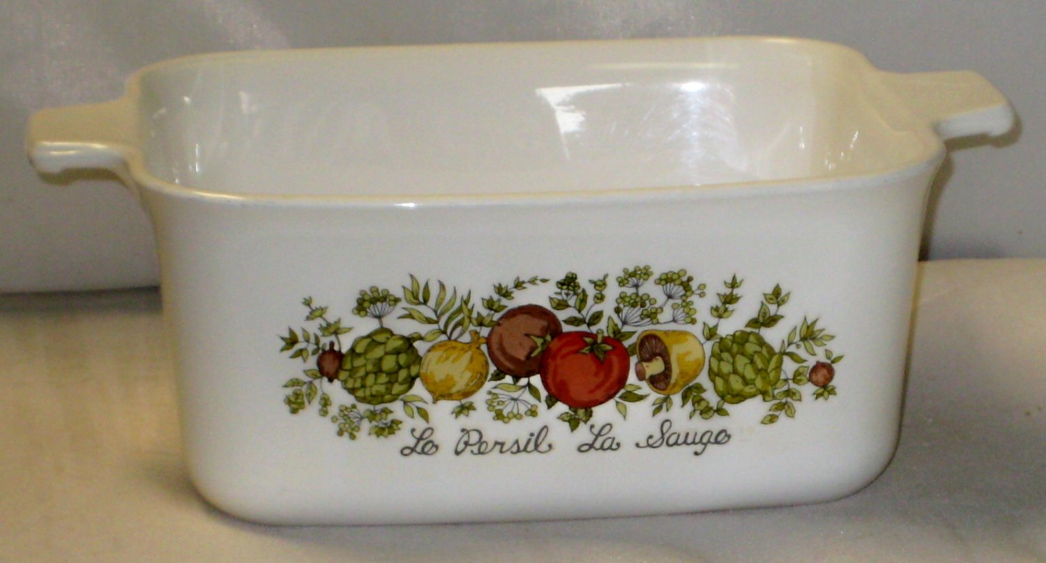 Corning Ware Spice Of Life P-4-B Rectangle Casserole Dish 1.5 Quart
