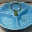 California USA Pottery 3 Part Nut Dish #440 Baby Blue