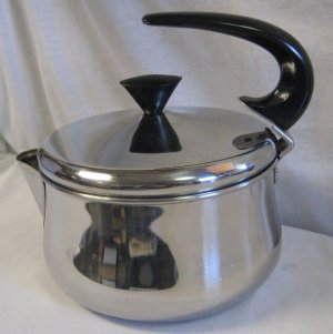 Vtg Farberware Stainless Steel Tea Kettle Tea Pot Model 762